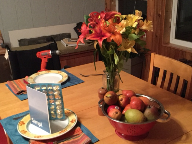 Still life with dinner guests