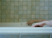 Hands in Tub by Richard Hines