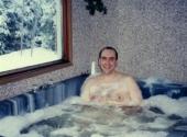 Me in a spa tub