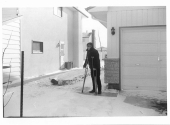 Me on crutches the first time, hip surgery 1969