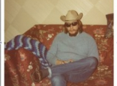 me in a beard and cowboy hat